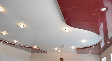 Двухуровневый натяжной потолок Минск
