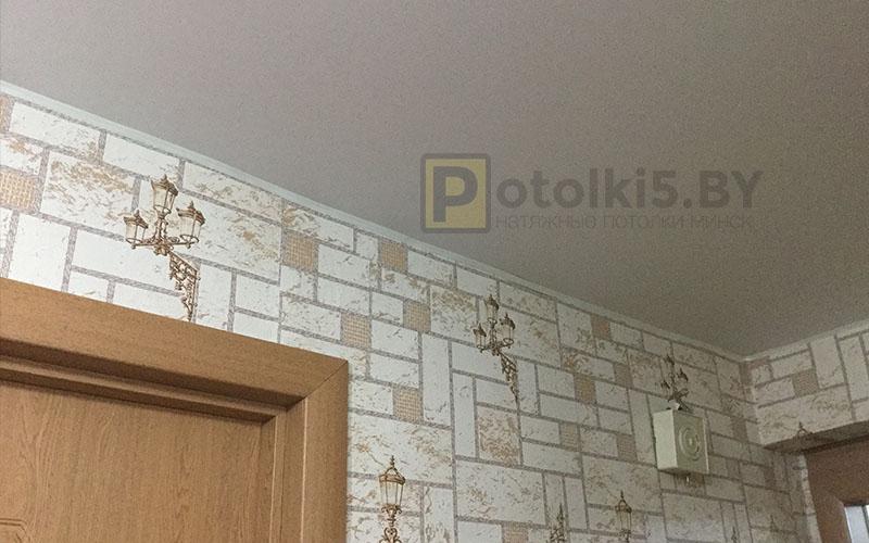 Матовый натяжной потолок в коридор