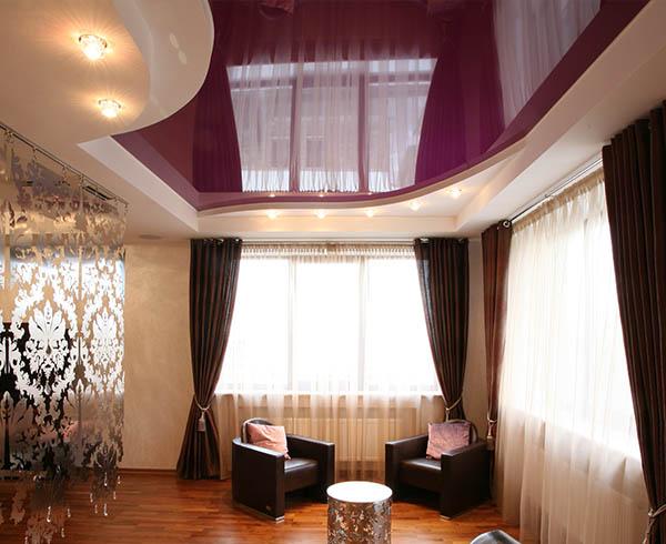 Натяжной потолок в гостиную в Минске