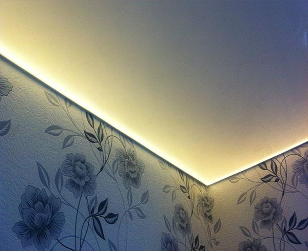 Парящий натяжной потолок в Минске