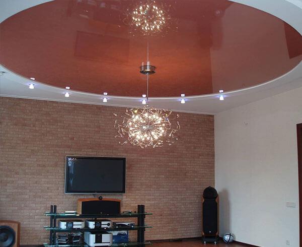 Натяжной потолок для зала в Минске