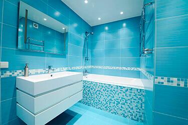Дизайн натяжных потолков в ванной фото