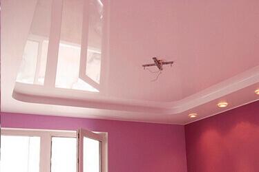 Розовый цвет натяжного потолка в Минске