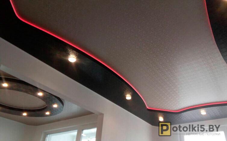 Эксклюзивный натяжной потолок с подсветкой