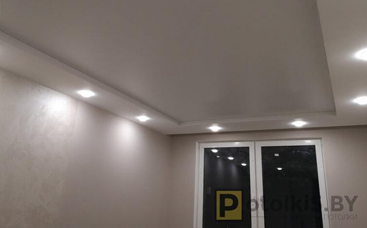 Матовый потолок с контурными линиями