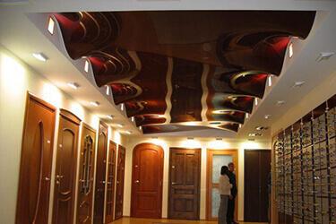 Натяжные потолки волной в Минске