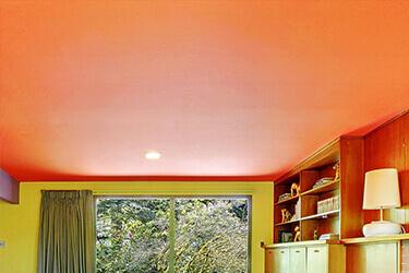 Оранжевый натяжной потолок в Минске