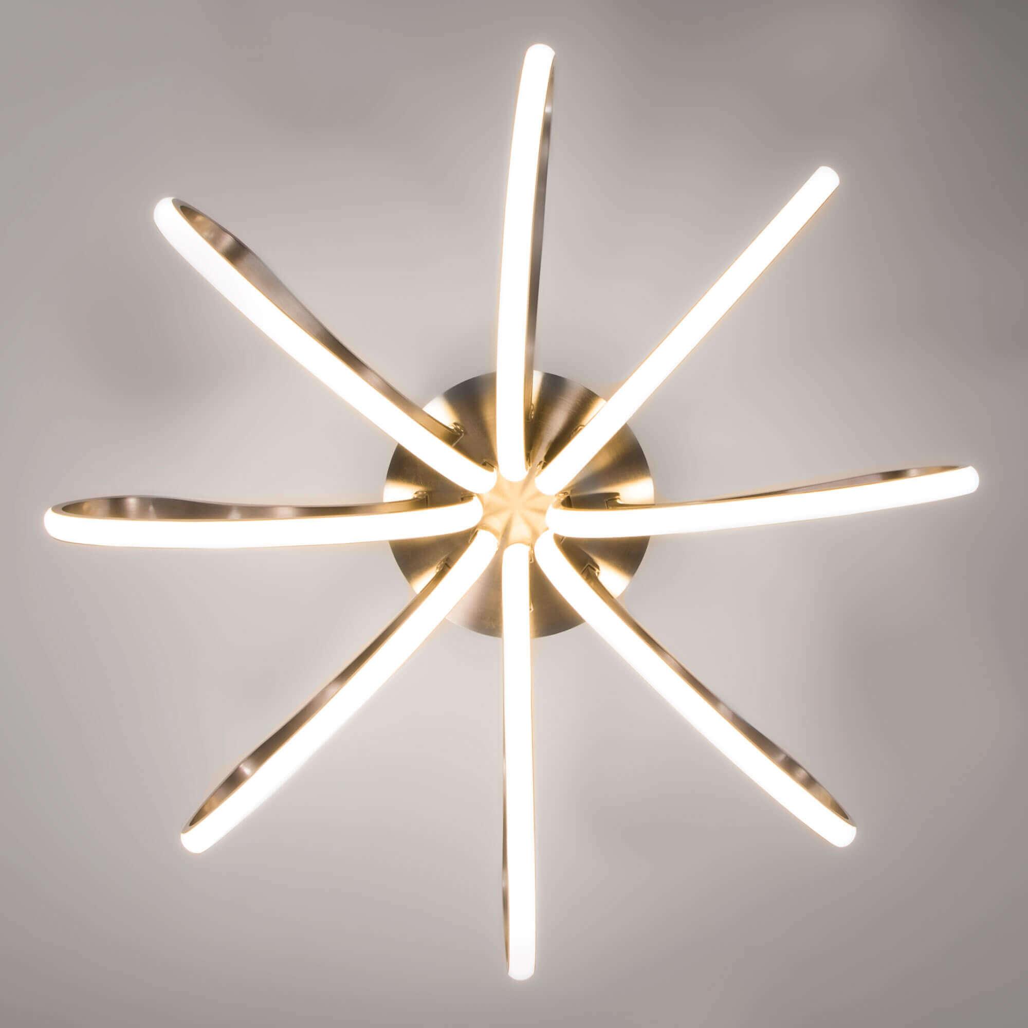 Купить светодиодную люстру 90079/8 сатин-никель