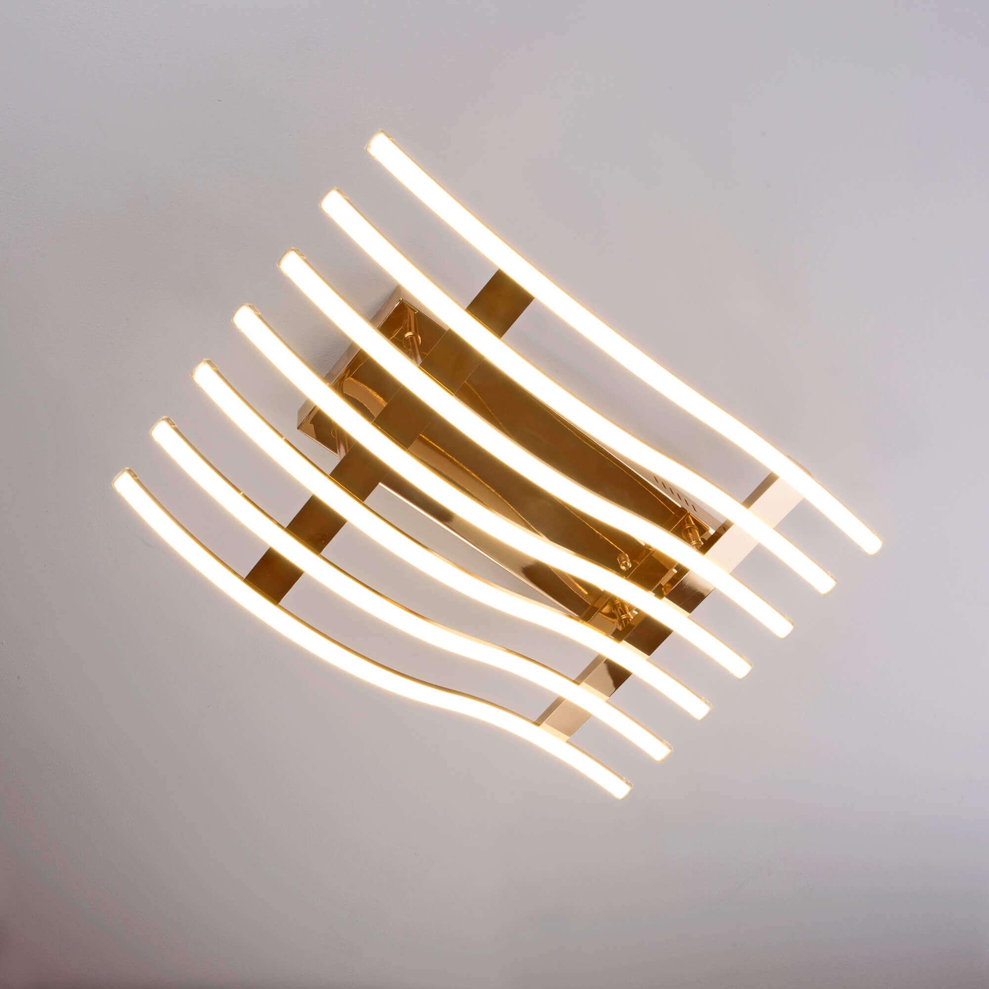 Купить светодиодную люстру 90091/7 золото
