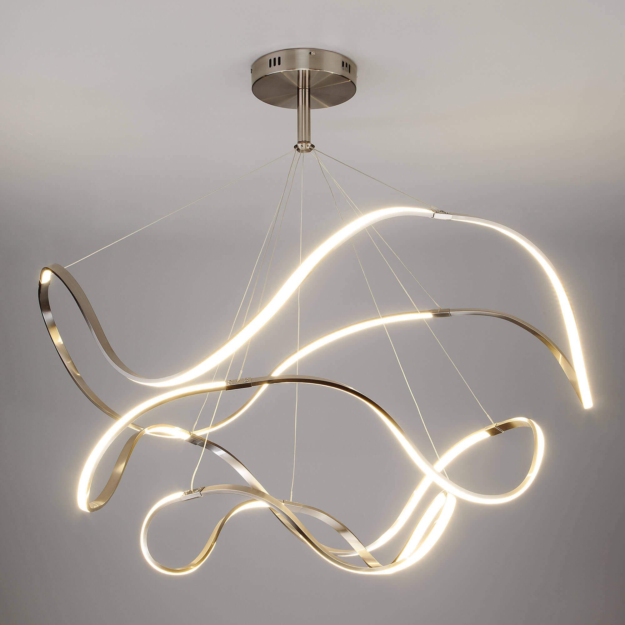 Купить светодиодный подвесной светильник 90109/3 сатин-никель