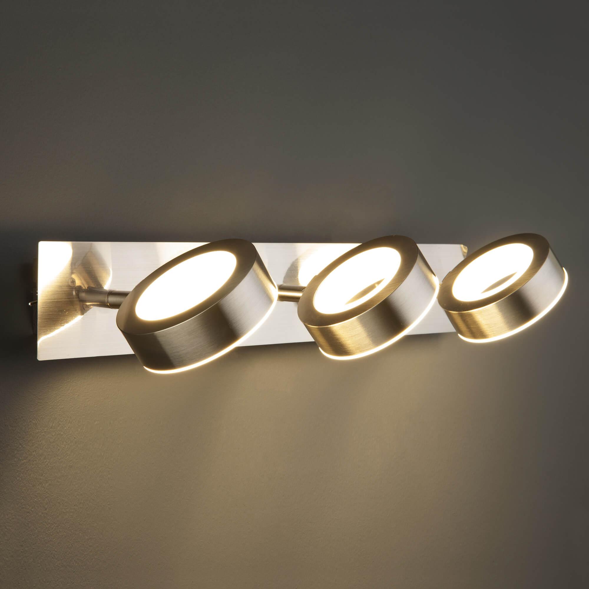 Купить светодиодный светильник 20065/3 сатин-никель в Минске