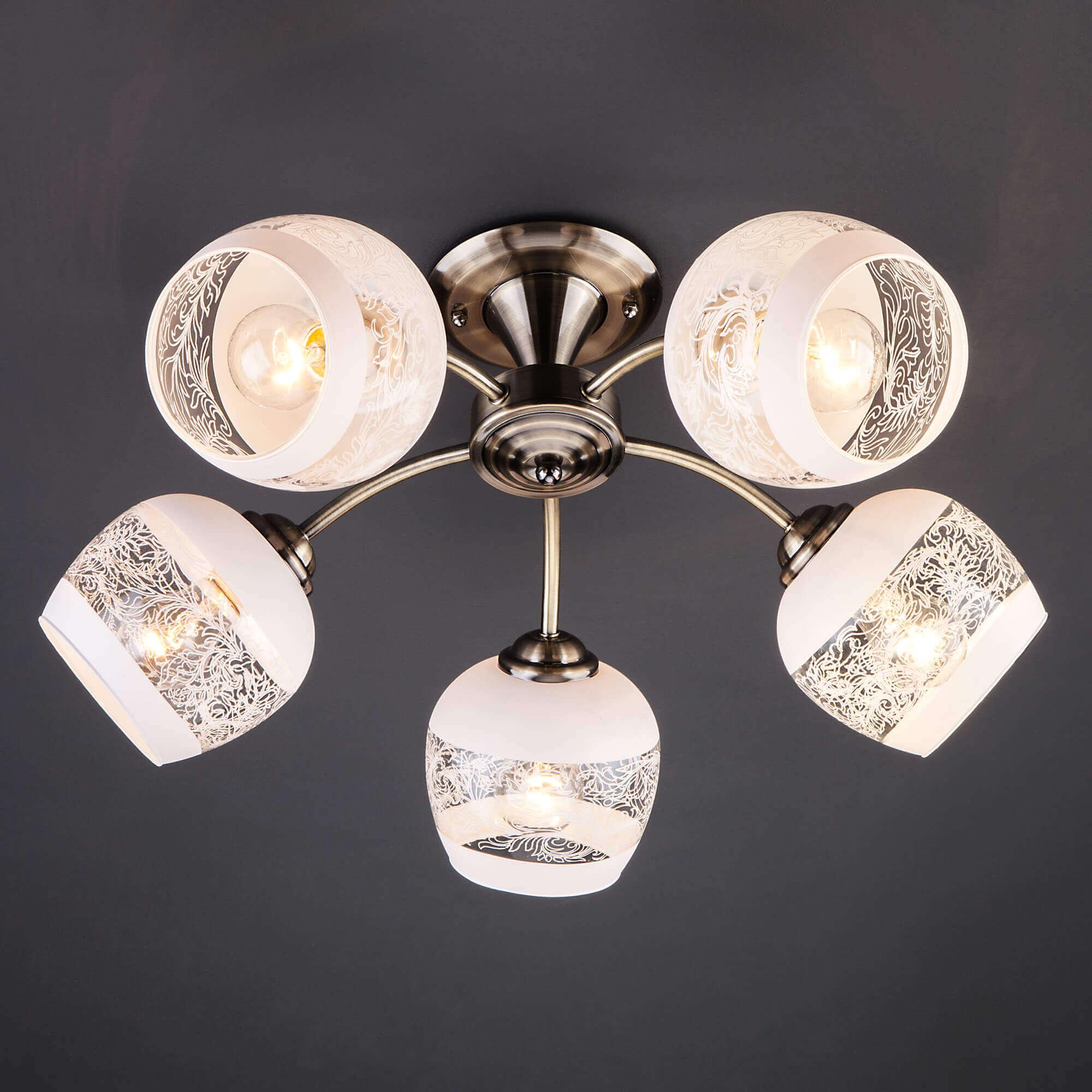 Купить потолочную люстру 30118/5 античная бронза в Минске