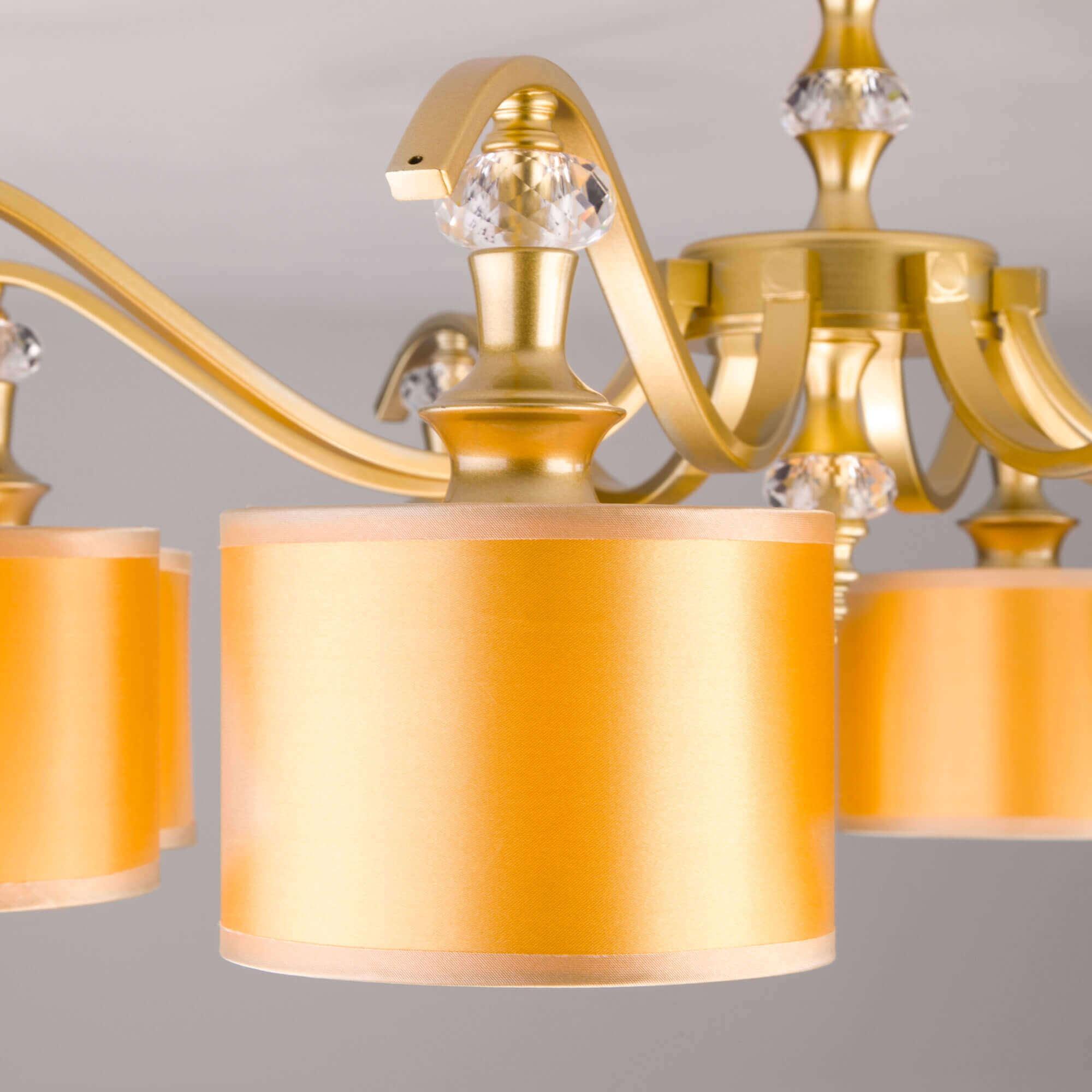Купить потолочную люстру 60070/8 перламутровое золото в Минске