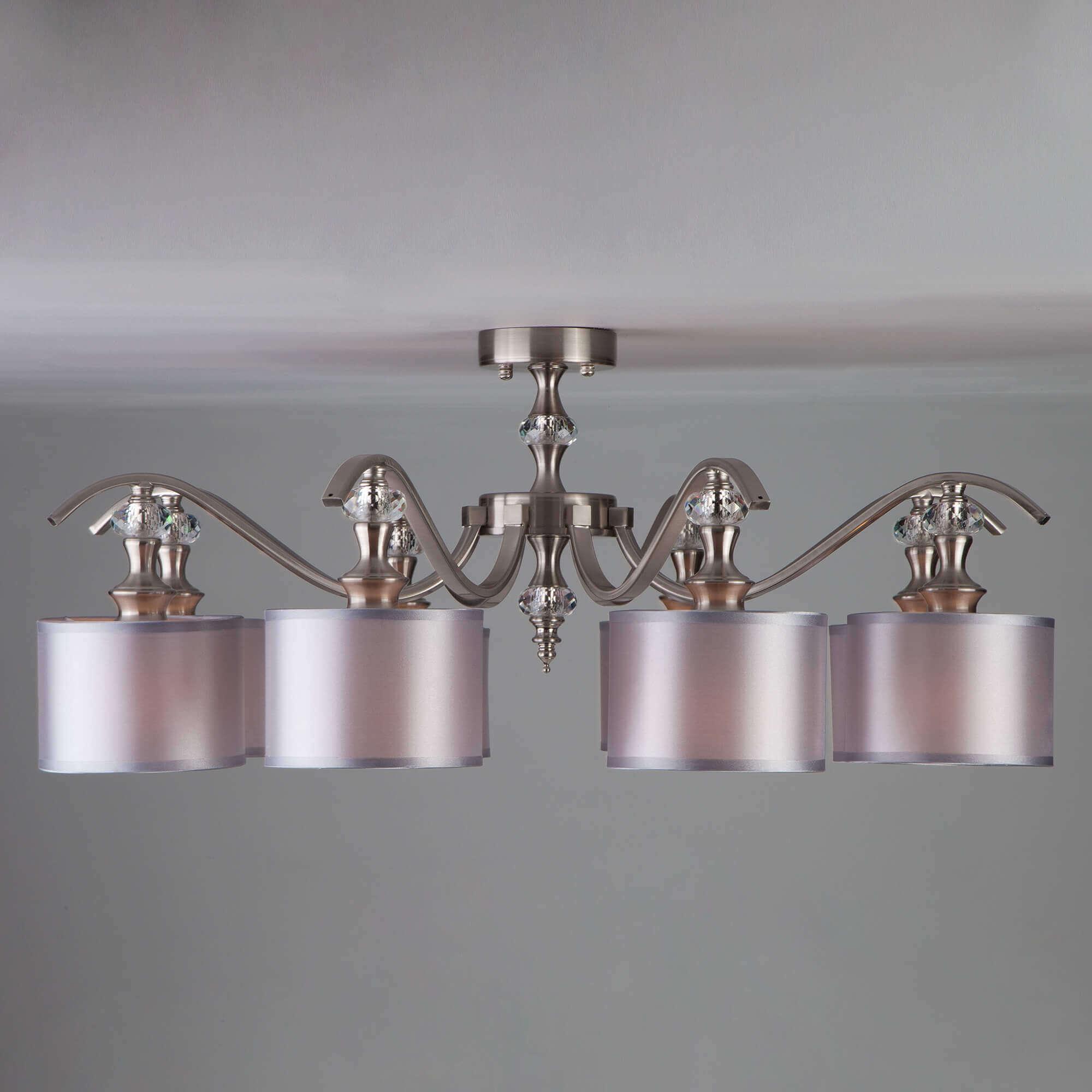 Купить потолочную люстру 60070/8 сатин-никель в Минске