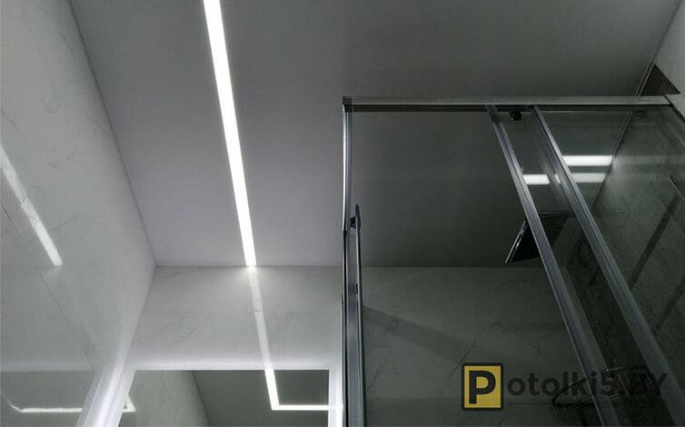 Матовый натяжной потолок в ванную и санузел