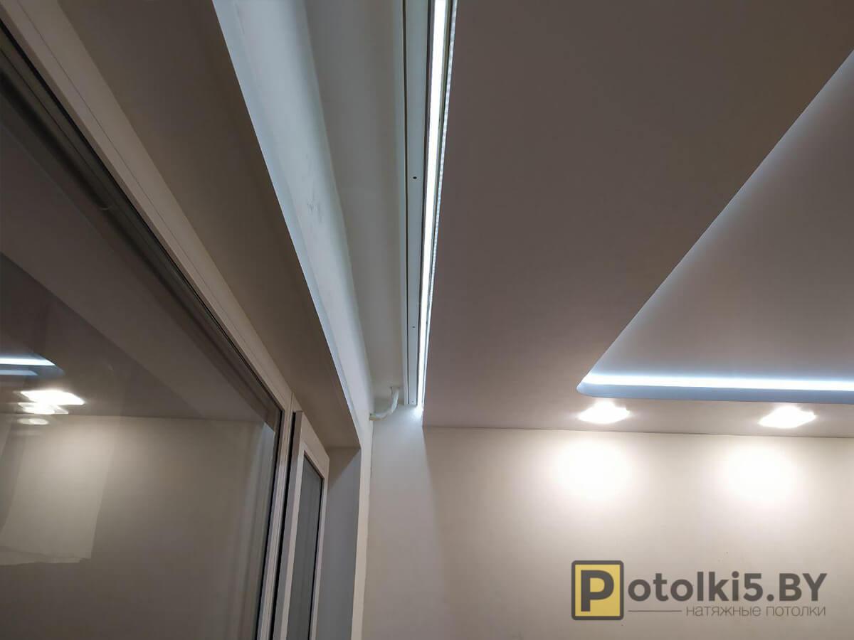 Готовый проект - Двухуровневые натяжные потолки с парящими линиями во всю квартиру