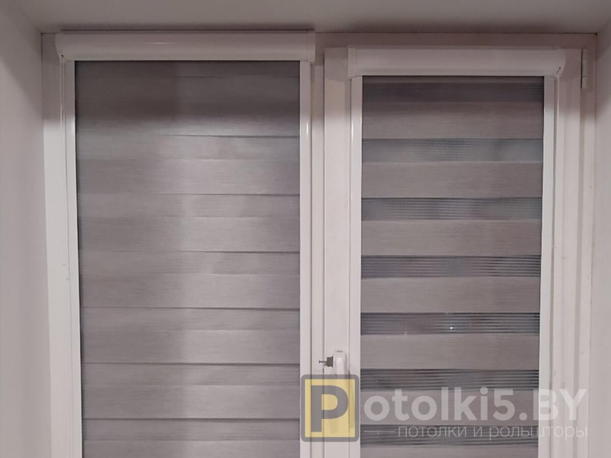 Готовый проект - рулонные шторы с тканью Зебра (серые)